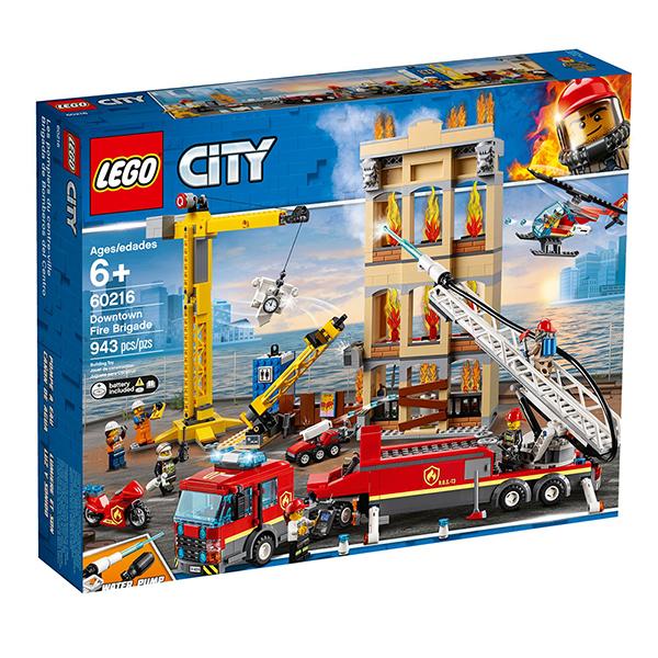 lego乐高 城市系列 60216 市区消防队